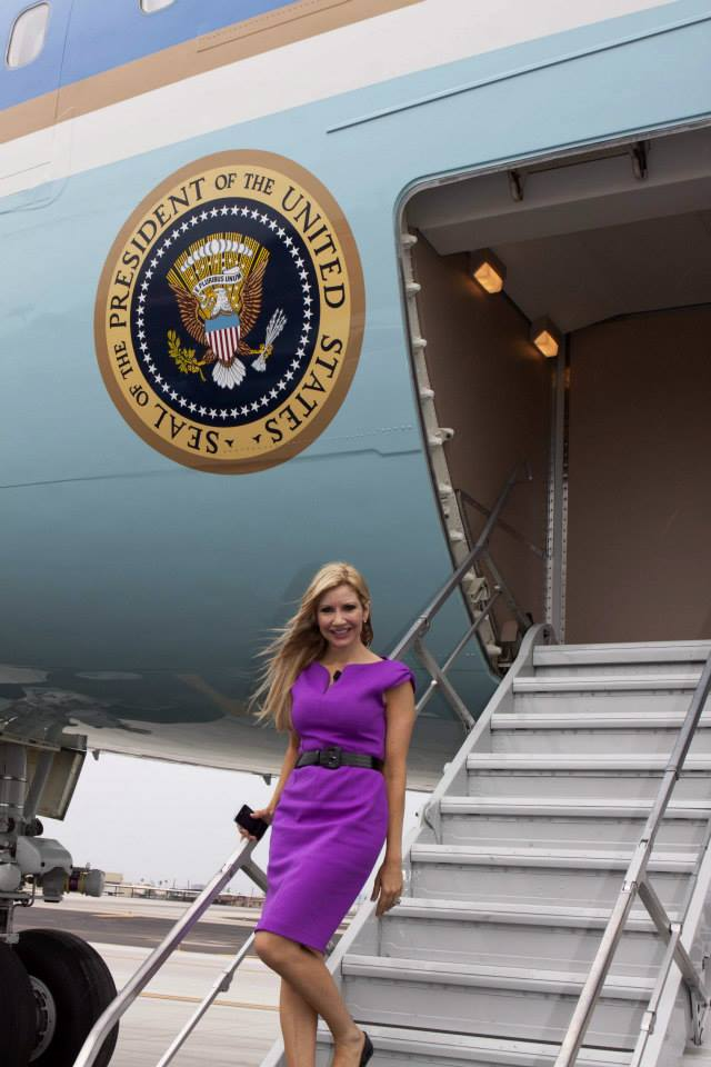 Carey Pena on Air Force One at Phoenix Sky Harbor