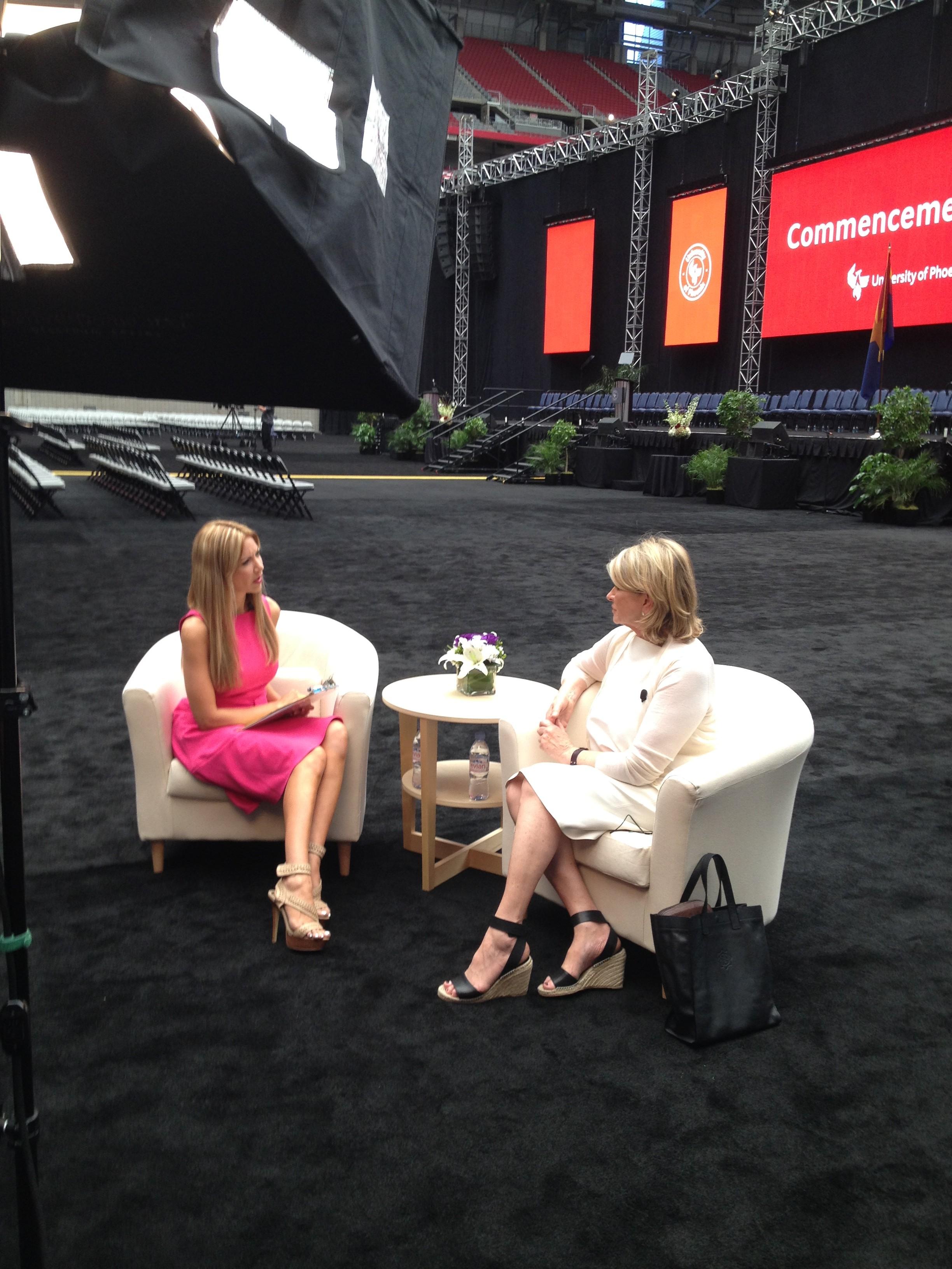 Carey Pena interviews Martha Stewart in Phoenix
