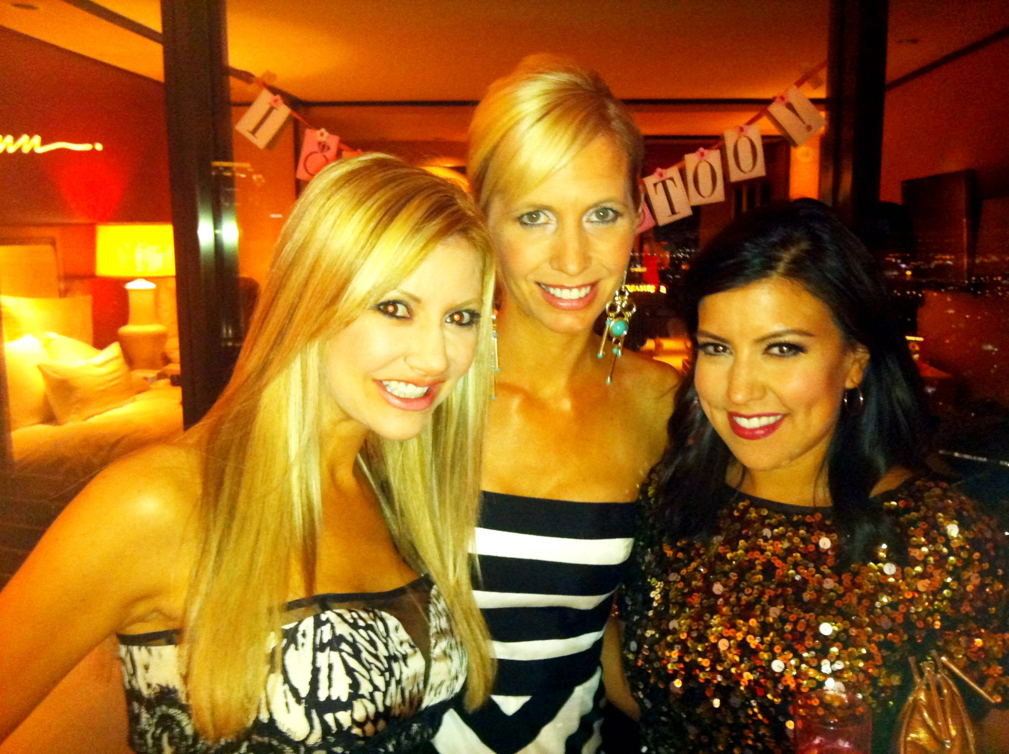 Carey Pena with Olivia Fierro and Suzanne Bissett