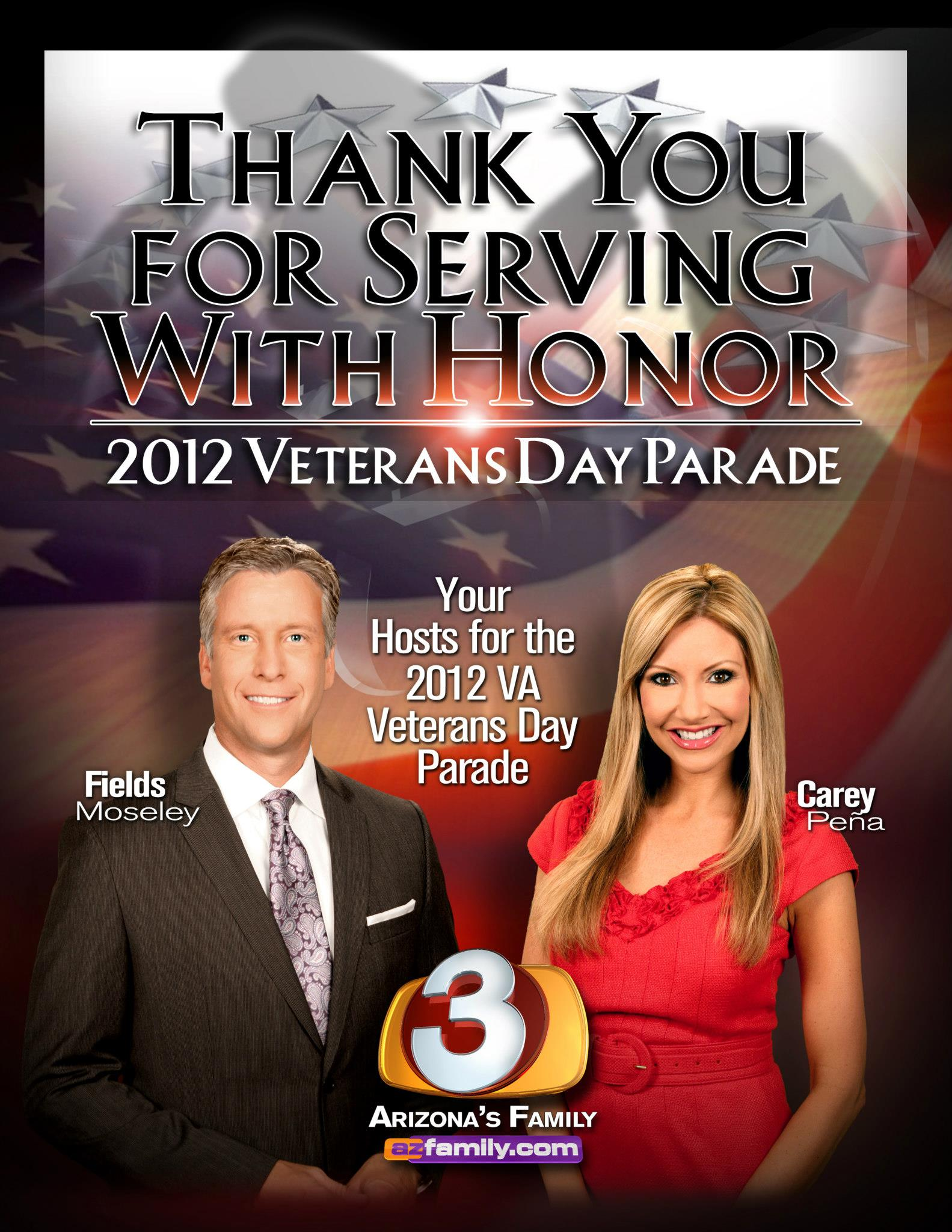 Carey Pena and Fields Moseley host Veterans Day Parade