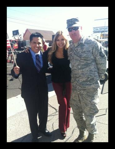 Veteran's Day Parade Phoenix Emcees Carey Pena &Javier Soto