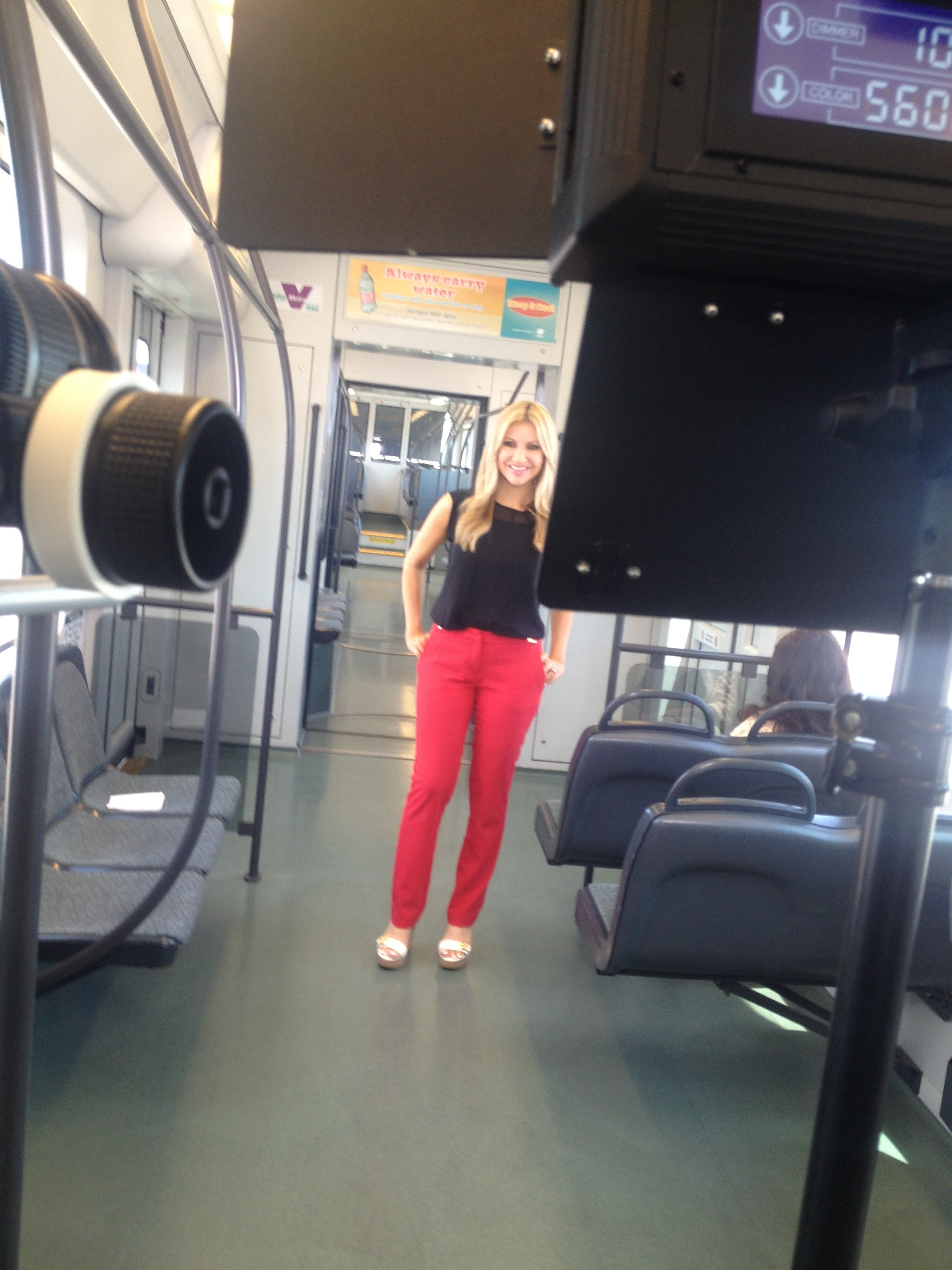 Carey Pena on location for 3TV in Phoenix
