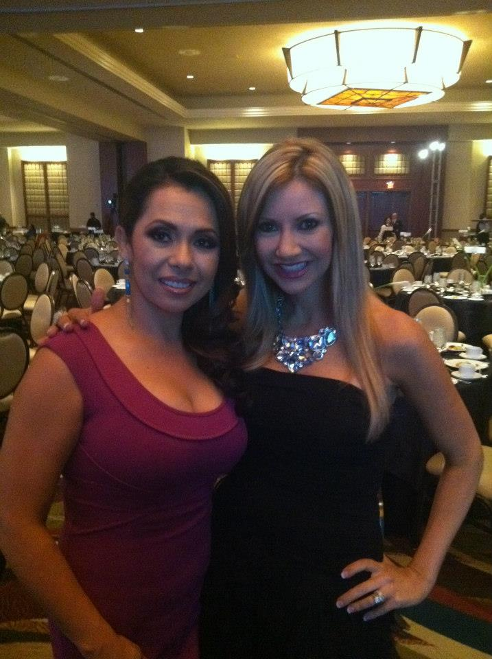 Emcees Carey Pena and Mary Rabago at thee Chicanos Por La Causa Event