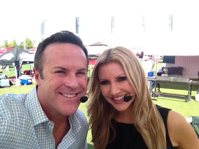 Carey Pena and 3TV's Tim Ring Anchor LIVE coverage at the Cardinals Game