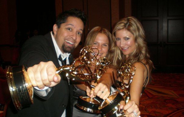 Carey Pena along with producer and editor at the Rocky Mountain Emmy Awards