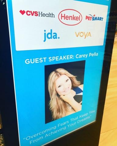 Carey Pena delivers keynote for Petsmart Charities