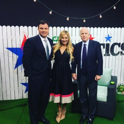 Carey Pena interviews late Senator John McCain