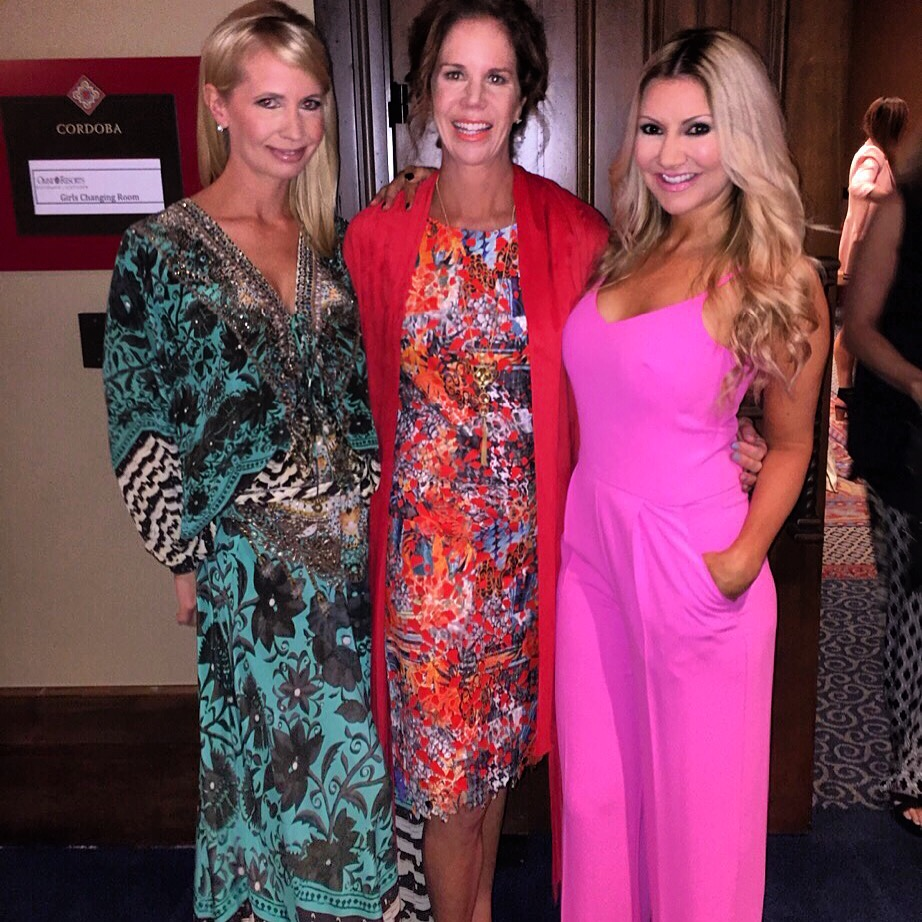 Carey Pena, Suzanne Bissett and Blake Van Es, wife of John Jay Van Es, support Childhelp