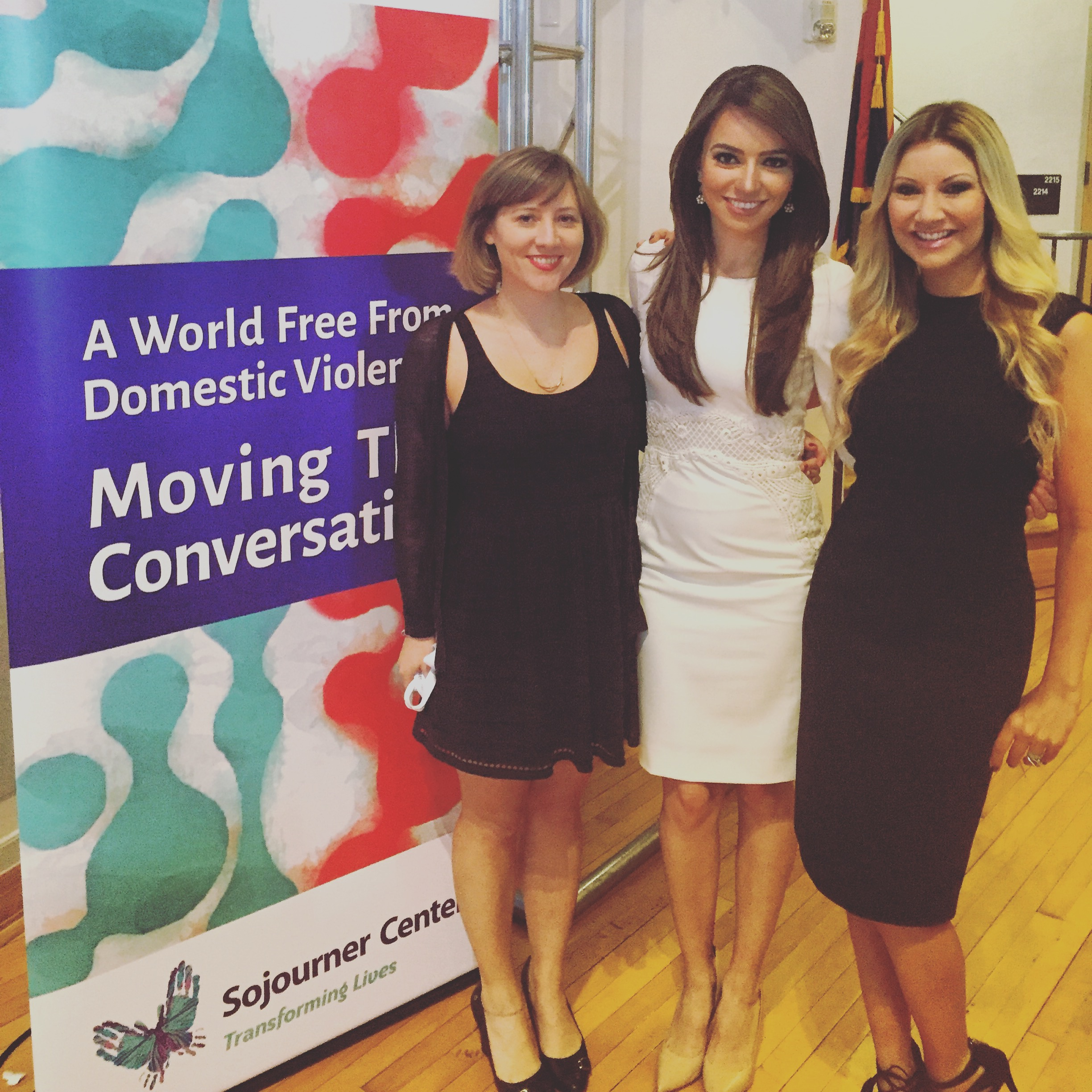 Carey Pena attends Sojourner Center event to fight domestic violence