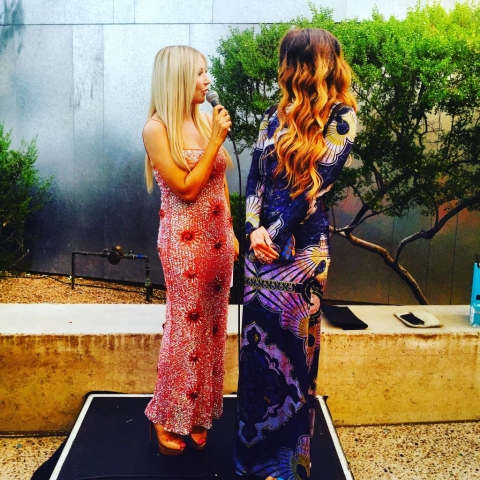 Carey Pena on the red carpet for SMOCA: Scottsdale Museum of Contemporary Art