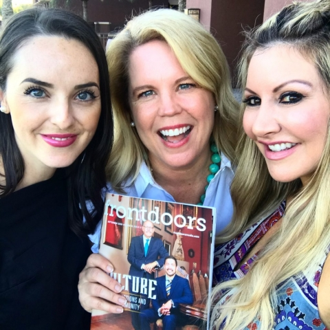 Carey Pena and Magazine Publisher Andrea Evans