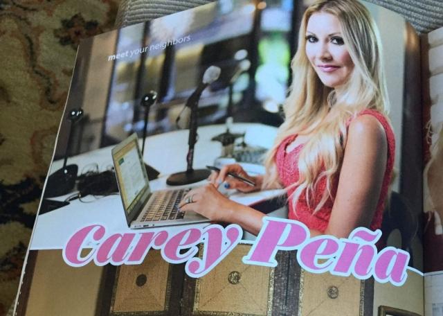 Carey Pena magazine feature