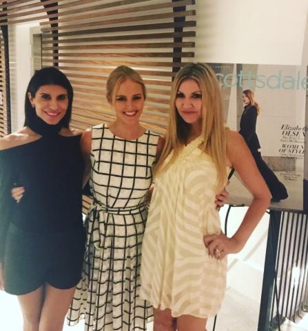 Carey Pena, Zenobia Mertel from Inspired Media 360 and Modern Luxury Editor Lauren Swanson