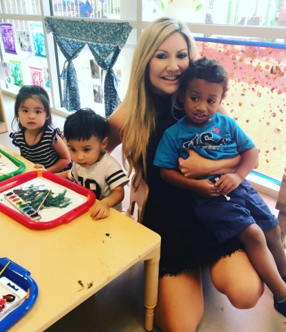 Carey Pena on location with Child Crisis AZ