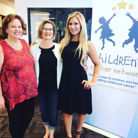 Carey Pena on location with Children's Cancer Network