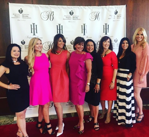 Carey Pena, Robin Sewell, Zenobia Mertel and The Bubbly Blonde at Phoenix Heart Ball Addressing Luncheon