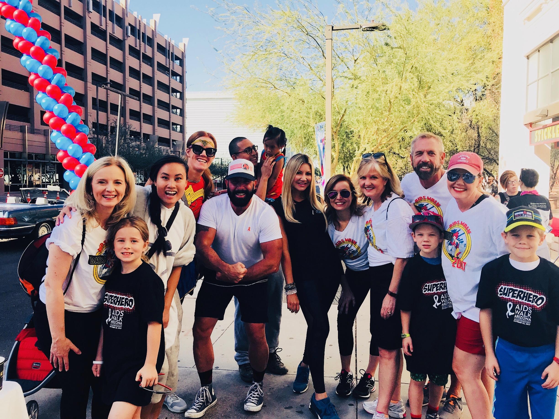 Carey Pena, Tyler Butler and Nicole Stanton join AIDS Walk AZ