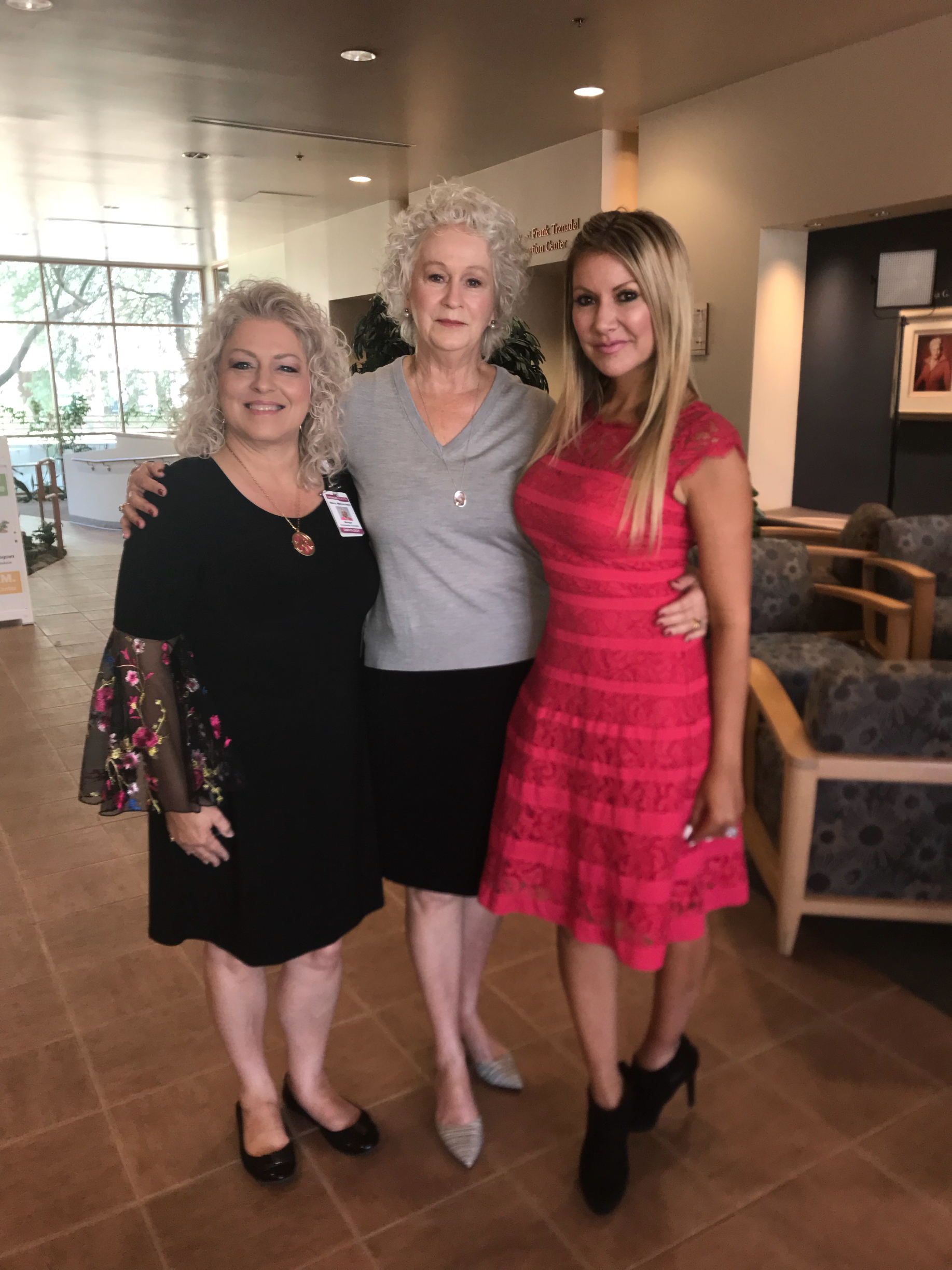 Carey Pena on location at Virginia G. Piper Cancer Center at HonorHealth