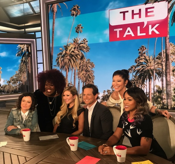 Carey Pena appears on THE TALK with Eve, Julie Chen, Sara Gilbert, Sherry Underwood and Scott Wolf