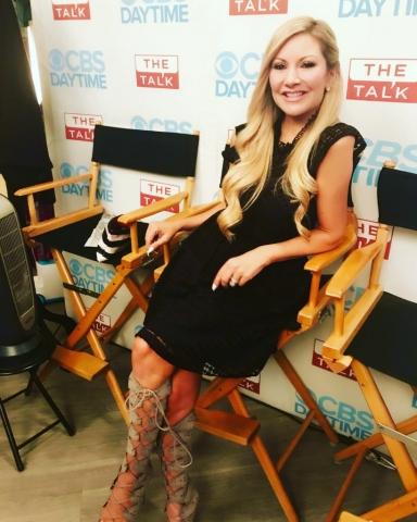 Carey Pena appears on the CBS show The Talk