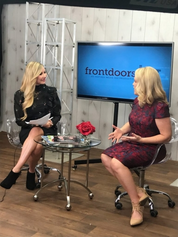 Carey Pena hosts Frontdoors TV with Publisher Andrea Evans