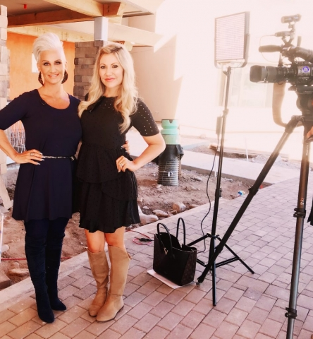 Carey Pena on location at Treasure House with Brenda Warner