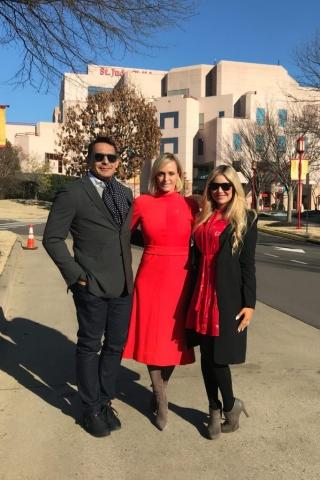 Carey Pena visits St. Jude with Oscar de Las Salas and Letitia Frye