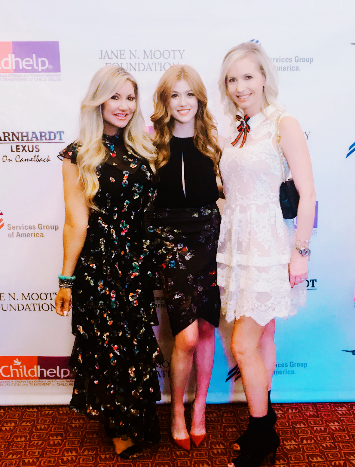 Carey Pena, Suzanne Bissett and Disney's Bella Thorne at Childhelp event