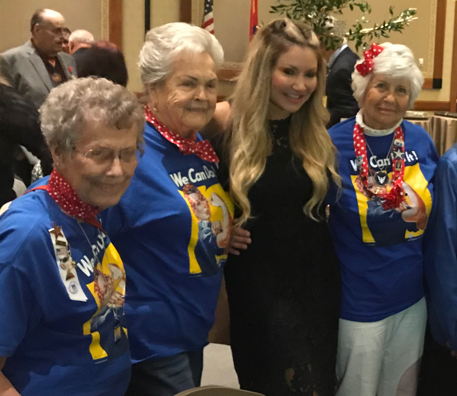 Carey Pena with Rosie The Riveter Group.